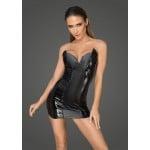 Сексуальное виниловое платье корсет с открытыми плечами Noir Handmade L