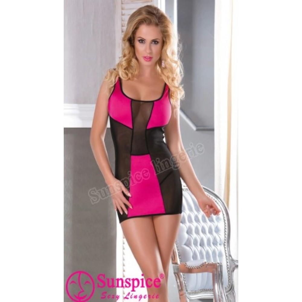 Платье сексуальное, с розовыми вставками, (One size) (33602), фото 1 — секс шоп Украина, NO TABOO