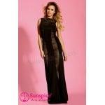 Эротичное длинное черное платье S/M