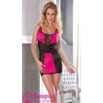 Платье сексуальное розовое и черное O/S