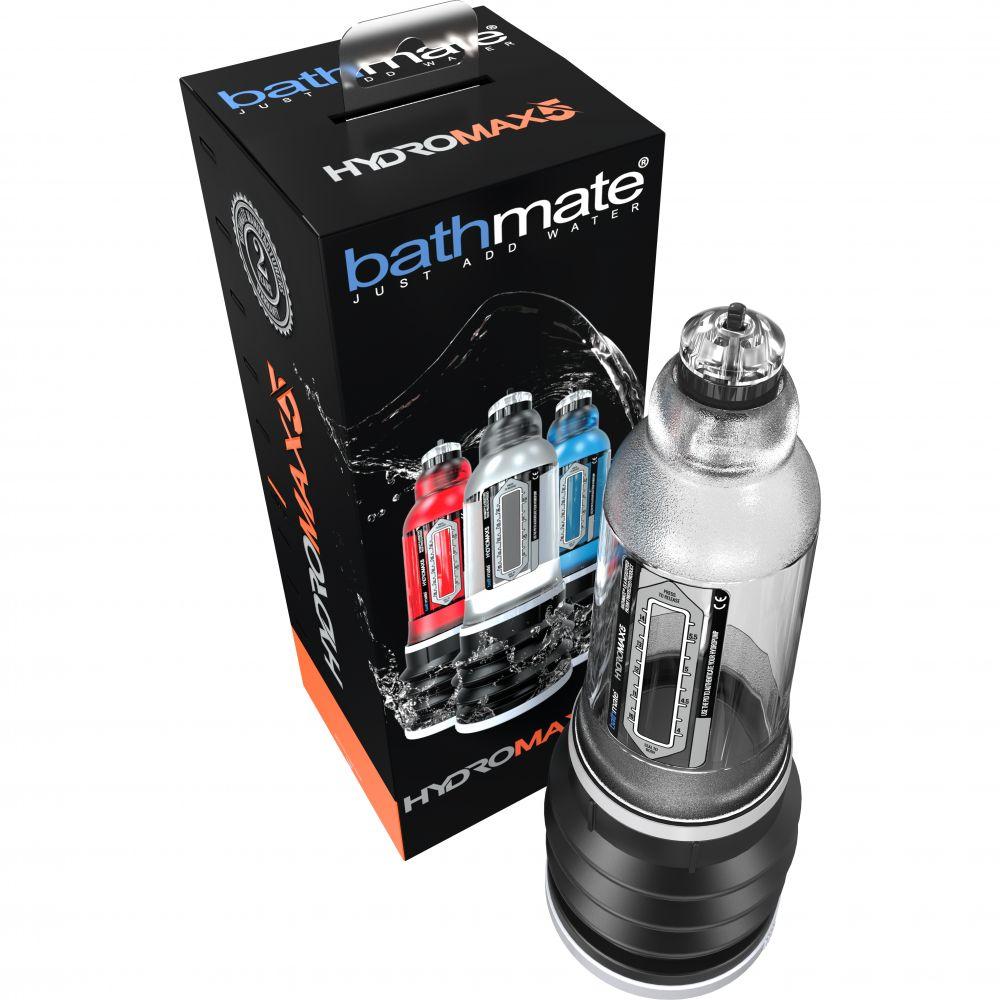 Гидропомпа BATHMATE HYDROMAX 5 для увеличения члена, прозрачная (32051)