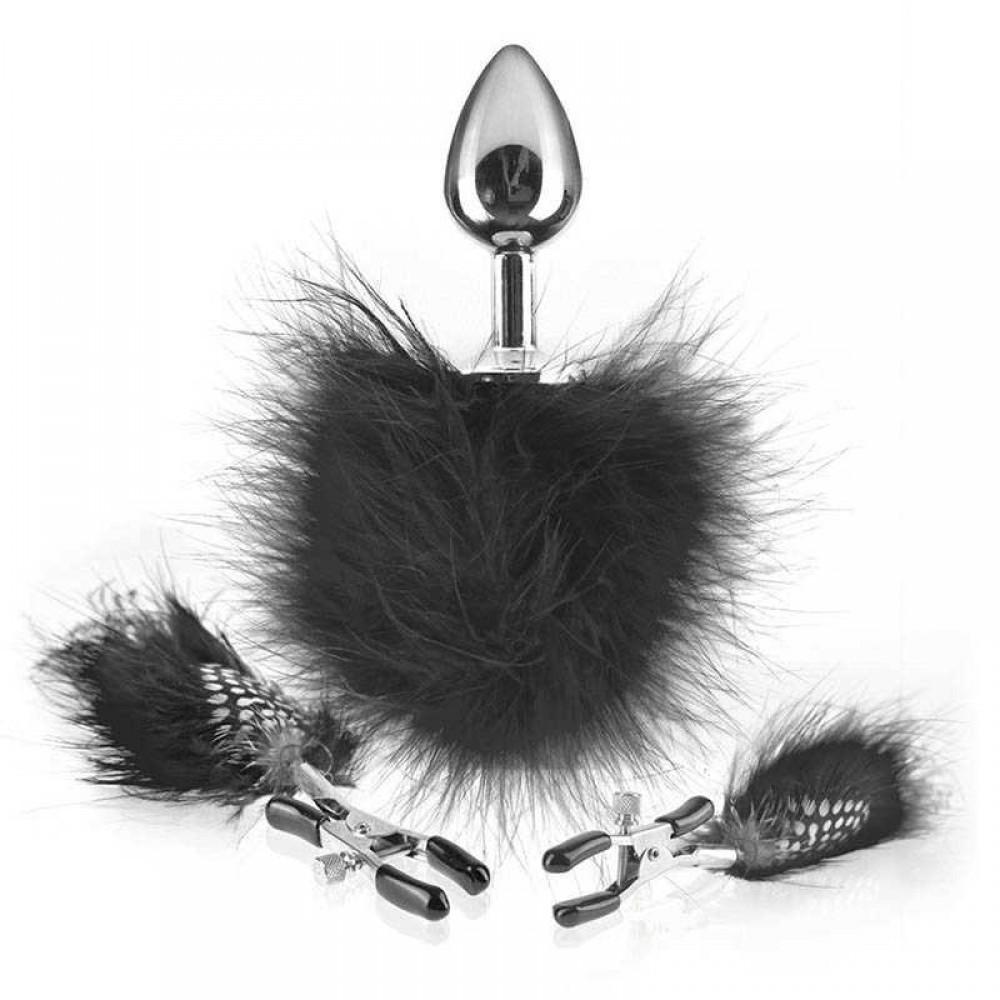 Зажимы на соски и анальная пробка с перышками из серии Fetish Fantasy Series (32624), фото 1