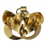 Кожаный брелок БДСМ маска Кошка, золотой