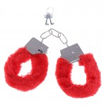 Наручники Fur Love Cuffs красные NO TABOO