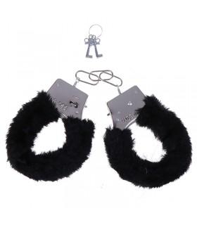 Наручники Fur Love Cuffs черные NO TABOO - No Taboo