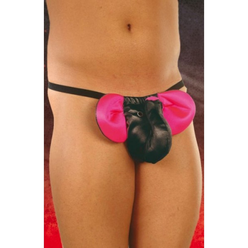 Трусики слоник чорно-рожевий (4979)