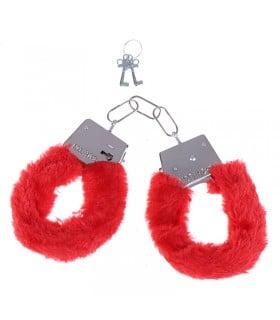 Наручники Fur Love Cuffs красные NO TABOO - No Taboo