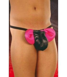 Трусики слоник черно-розовый - No Taboo