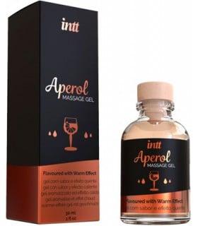 Массажный гель с разогревом для поцелуев со вкусом Aperol Intt 30 мл - No Taboo