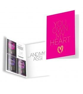 Подарочная открытка с набором Сашетов плюс конверт Kamasutra You Own My Heart - No Taboo