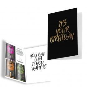 Подарочная открытка с набором Сашетов плюс конверт на День Рождения Kamasutra - No Taboo