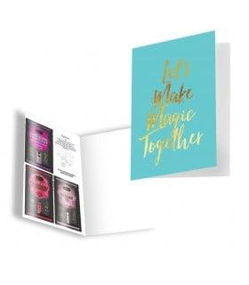 Подарочная открытка с набором Сашетов плюс конверт Kamasutra Lets Make Magic Together - No Taboo