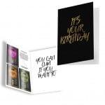 Подарочная открытка с набором Сашетов плюс конверт на День Рождения Kamasutra