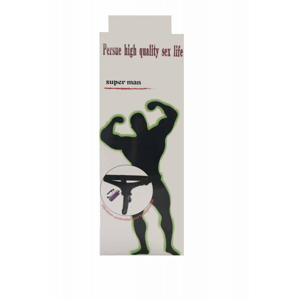 Латексный страпон с вибрацией Real man - No Taboo
