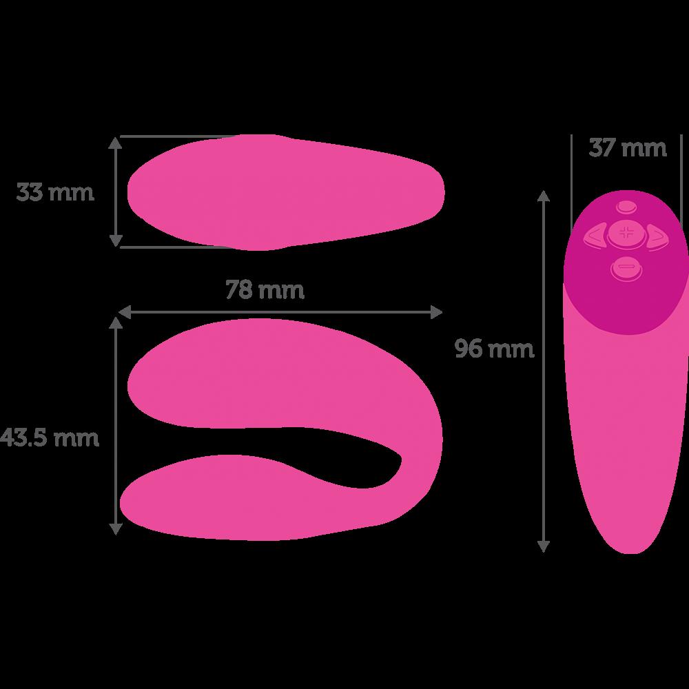 Вибратор для пар We-Vibe (Вивайб) Chorus розовый (36596), фото 14 — секс шоп Украина, NO TABOO