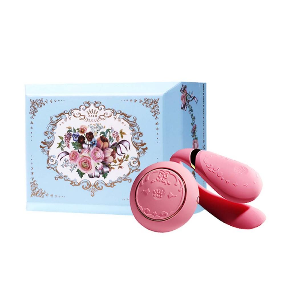 Вибратор для пар с пультом ZALO Fanfan Set Pink , фото 1