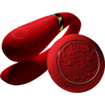 Вибратор для пар с пультом ZALO Fanfan Set Red
