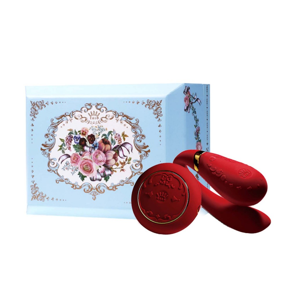 Вибратор для пар с пультом ZALO Fanfan Set Red , фото 1