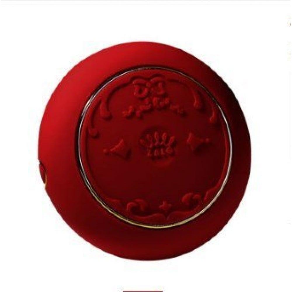 Вибратор для пар с пультом ZALO Fanfan Set Red , фото 5
