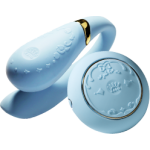 Вибратор для пар с пультом от ZALO Fanfan Set, голубой