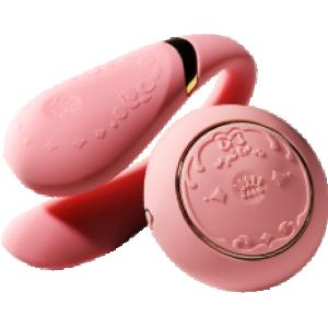 Вибратор для пар с пультом ZALO Fanfan Set Pink (25434), zoom
