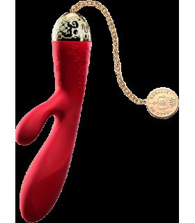 Вибратор вагинально-клиторальный ZALO Rosalie, красный - No Taboo