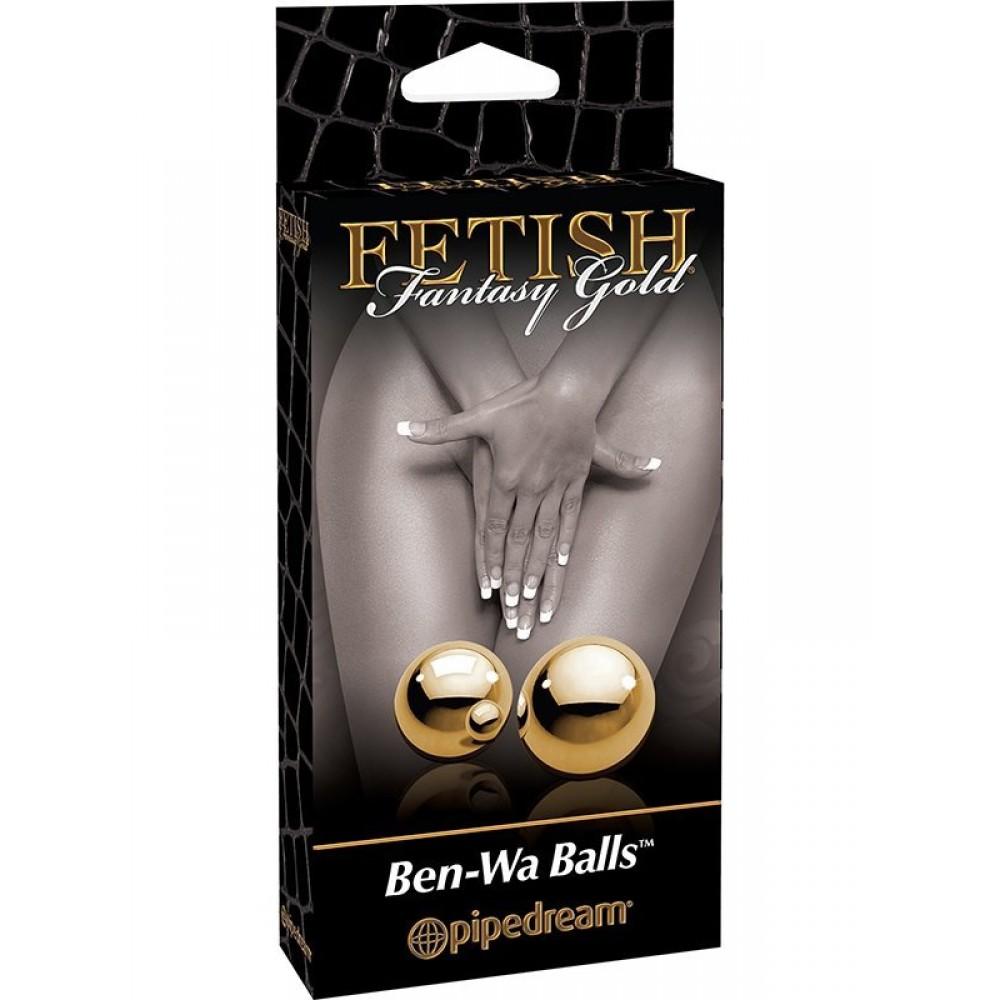 Кульки Вагінальні метал золото Fetish (19410)
