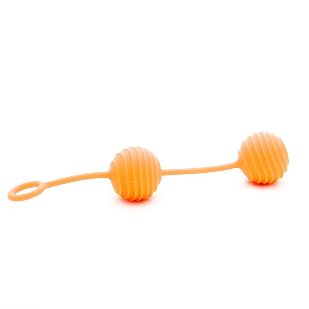 Кульки Вагінальні рельєфні 100% медичний силікон важкі (26466)
