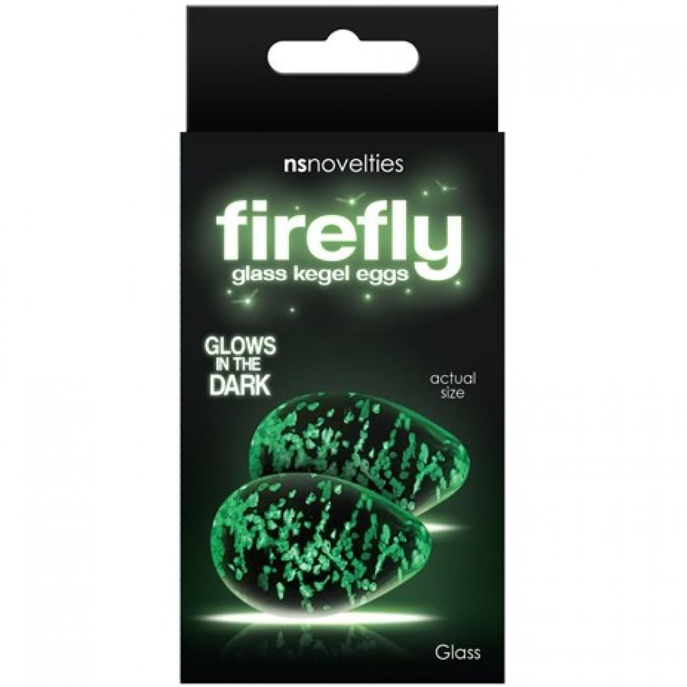 Стеклянные вагинальные шарики FIREFLY GLASS KEGEL EGGS CLEAR (34662)