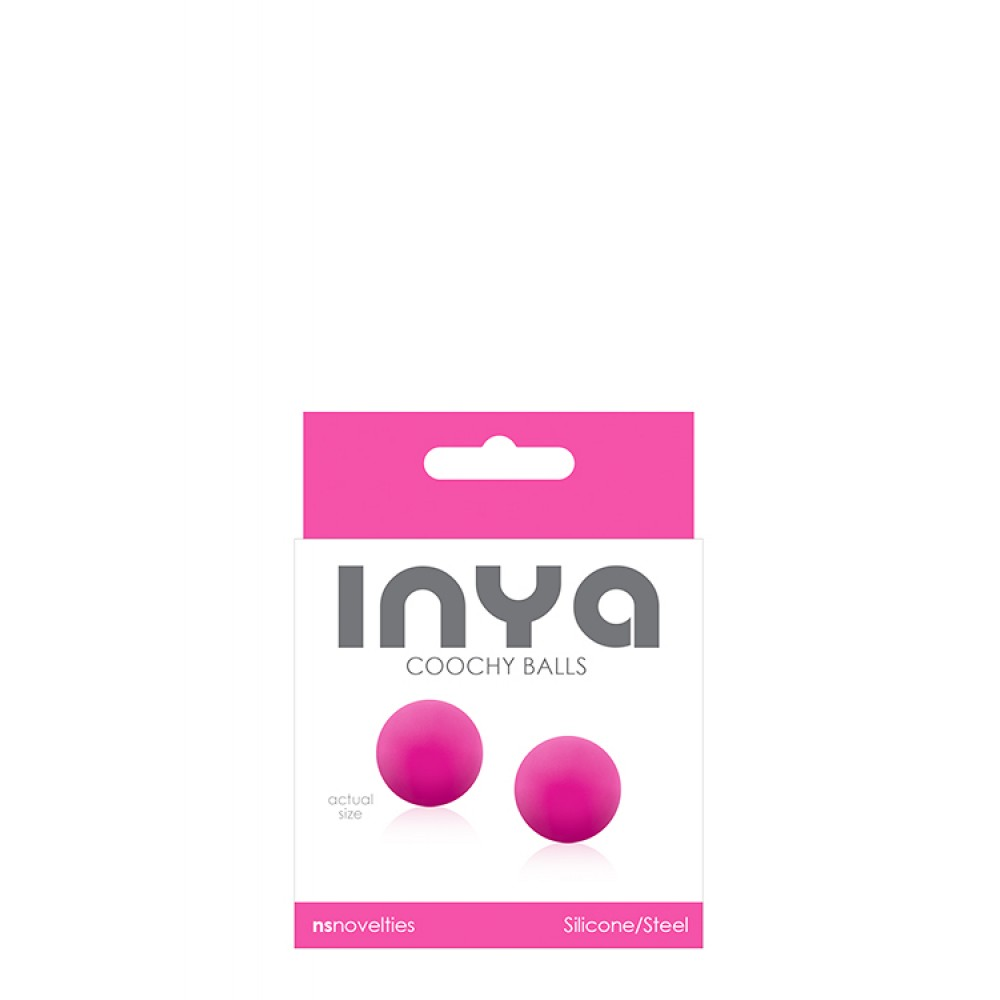 Вагинальные шарики INYA COOCHY BALLS, розовые (33838), фото 1 — секс шоп Украина, NO TABOO