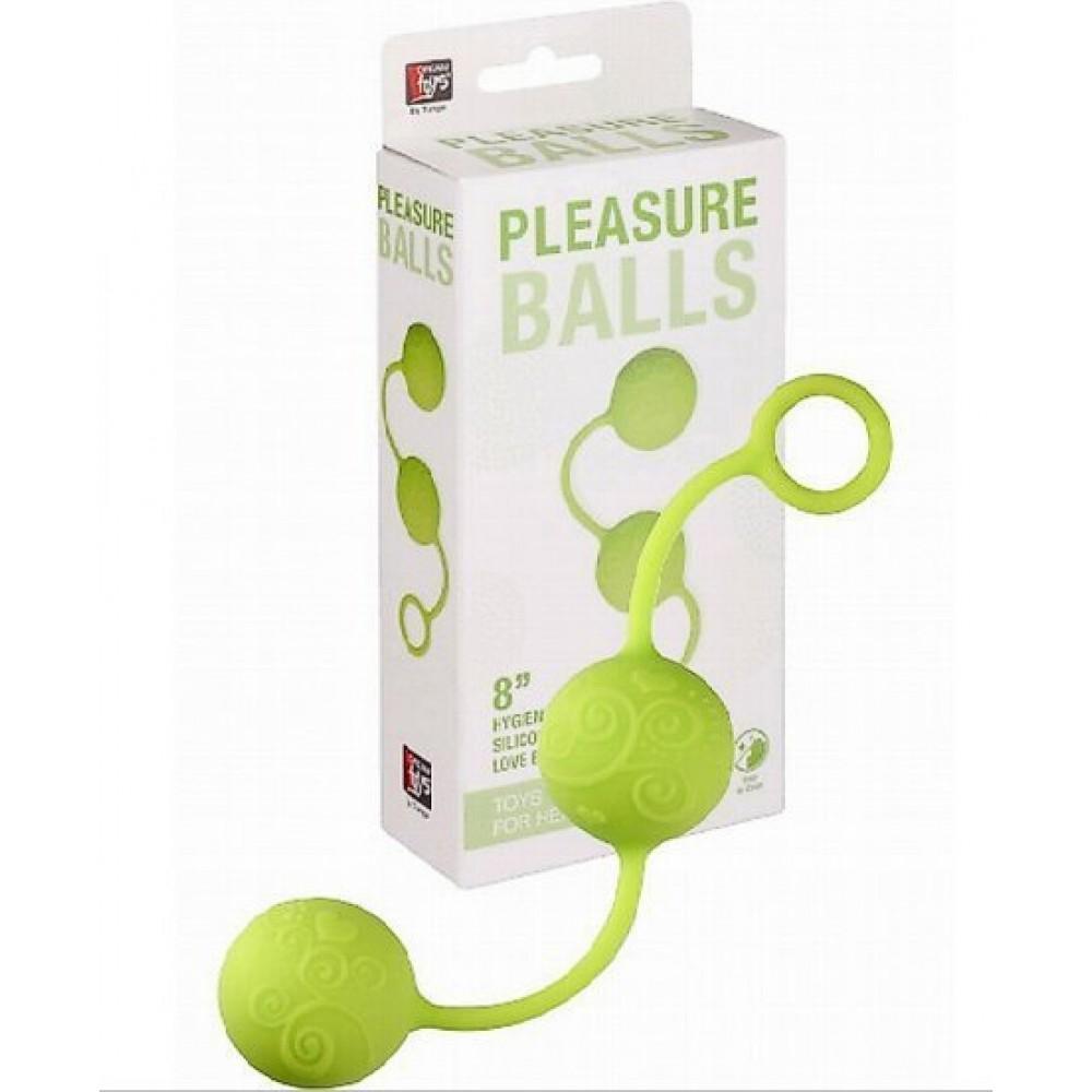 Зеленые вагинальные шарики на мягкой сцепке NEON PLEASURE BALLS (2717)