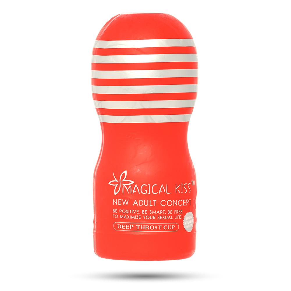 Мастурбатор Magical Kiss Deep Throat Cup, в колбе красной (33577), фото 1