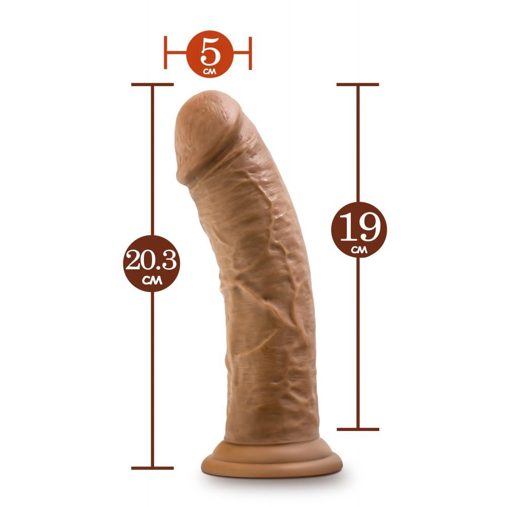 Фалоімітатор з присоскою, реалістичний, 20.3 см х 5 см (33538)