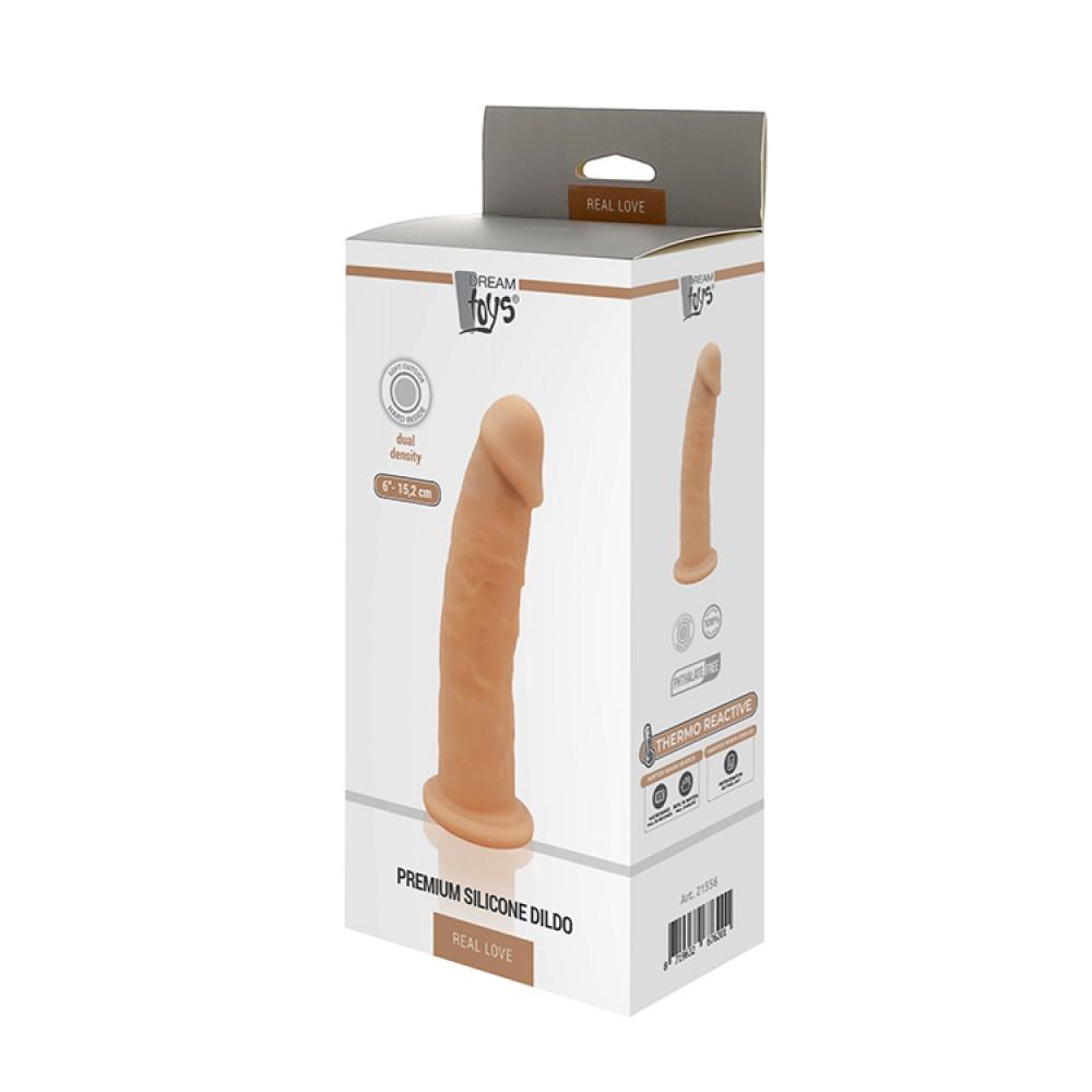 Фаллоимитатор из термосиликона для разогрева, телесного цвета, 15 см х 3 см (33840)