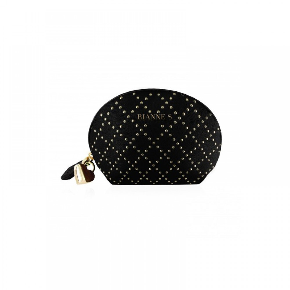 Мини-вибратор черный в сумочке с замком, фото 3