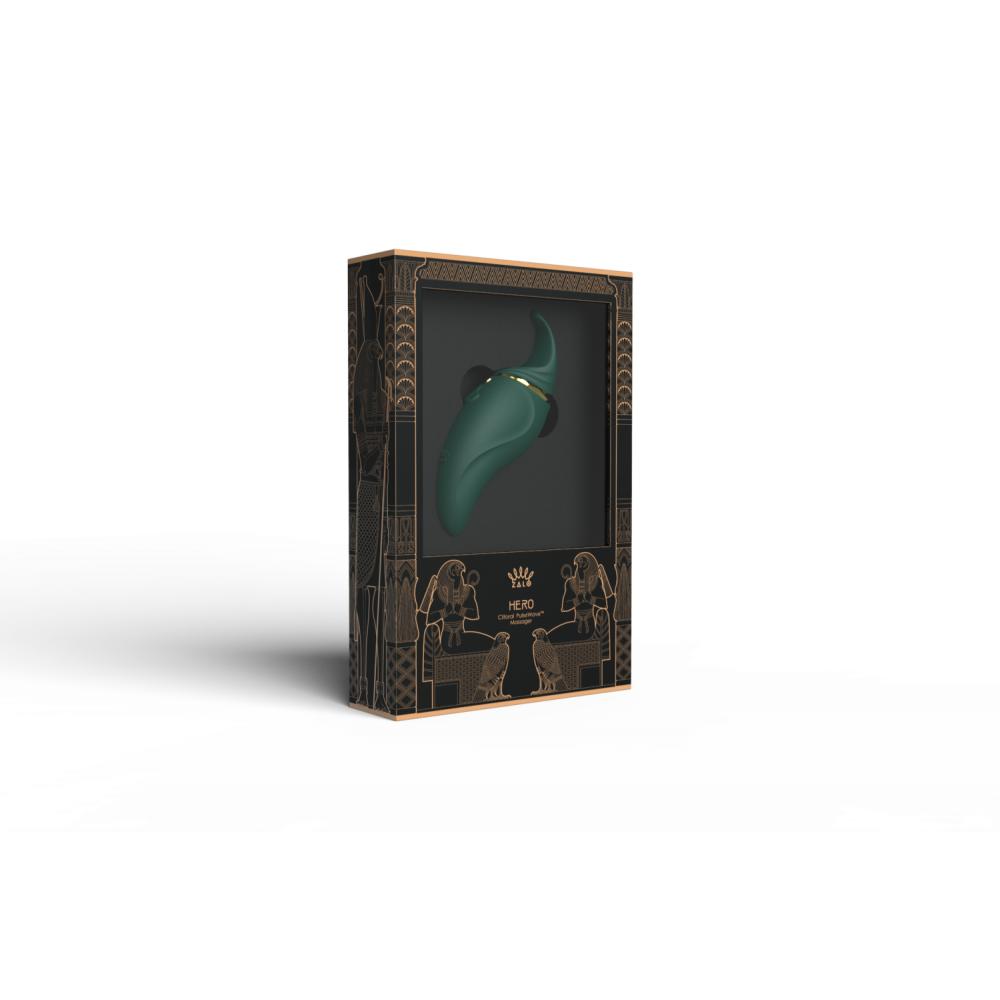 Стимулятор клітора з язичком і вібрацією Zalo Hero, зелений (33570)