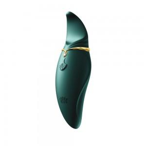 Стимулятор клітора з язичком і вібрацією Zalo Hero, зелений (33570), zoom