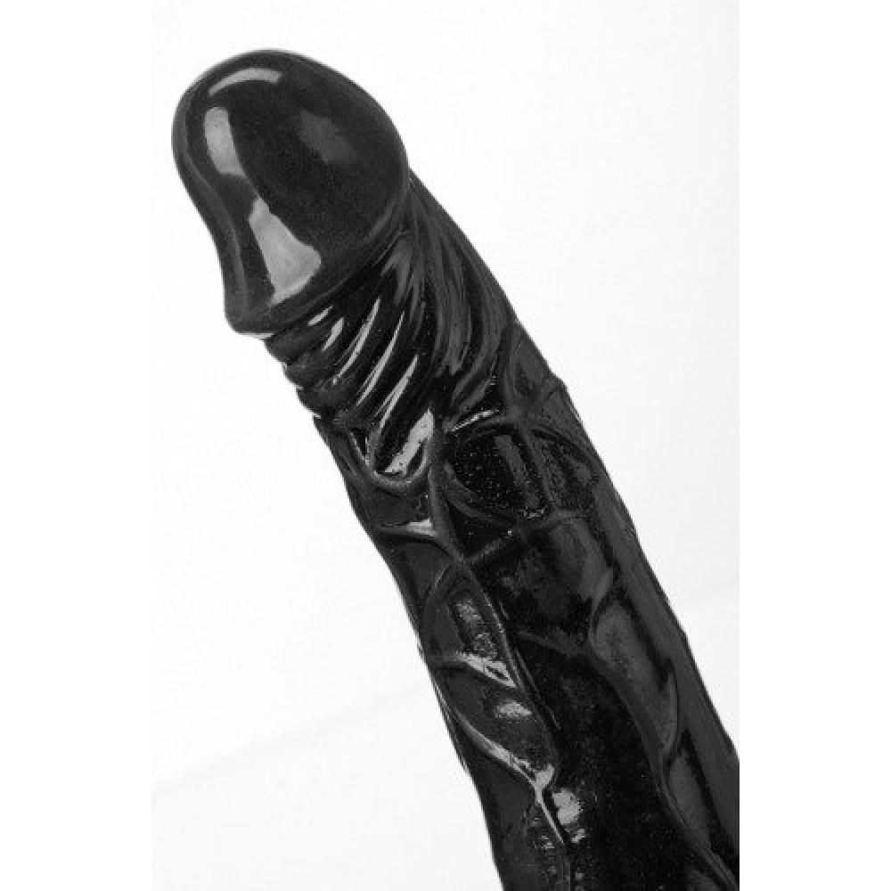 Вибратор черный реалистичный 19,5 см, диаметр - 5 (9992)