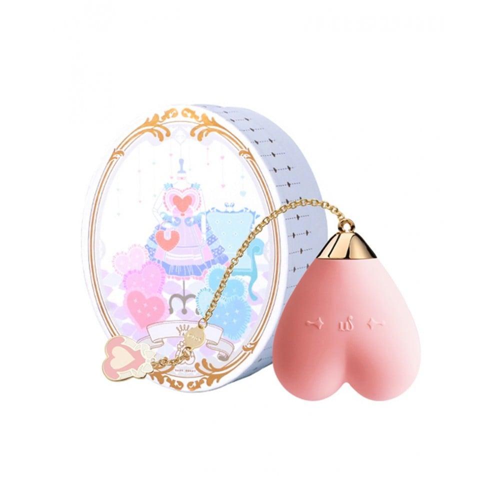 Вибратор для стимуляции клитора в форме сердца Strawberry Pink ZALO Baby Heart (24838), фото 1 — секс шоп Украина, NO TABOO