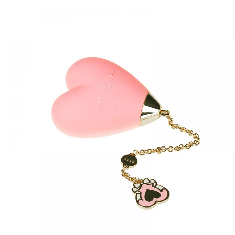 Вибратор для стимуляции клитора в форме сердца Strawberry Pink ZALO Baby Heart (24838), фото 3 — секс шоп Украина, NO TABOO