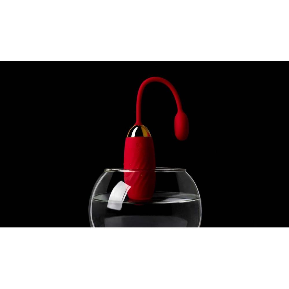 Вибратор яйцо Svakom Ella Red с функцией управления смартфоном - No Taboo