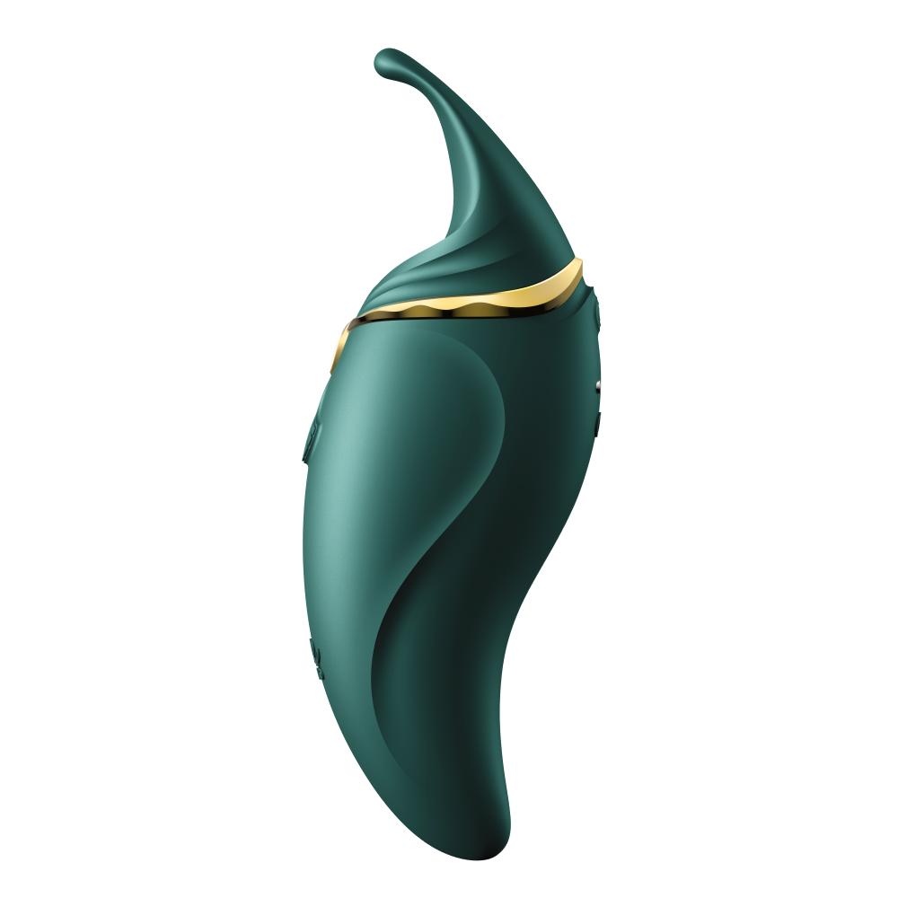 Стимулятор клитора с язычком и вибрацией Zalo Hero, зеленый (33570), фото 1