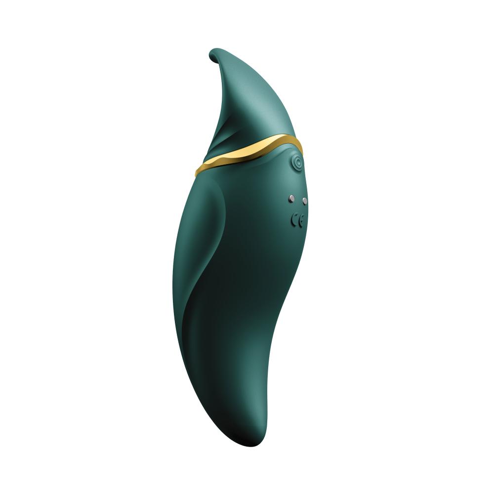 Стимулятор клитора с язычком и вибрацией Zalo Hero, зеленый (33570), фото 3