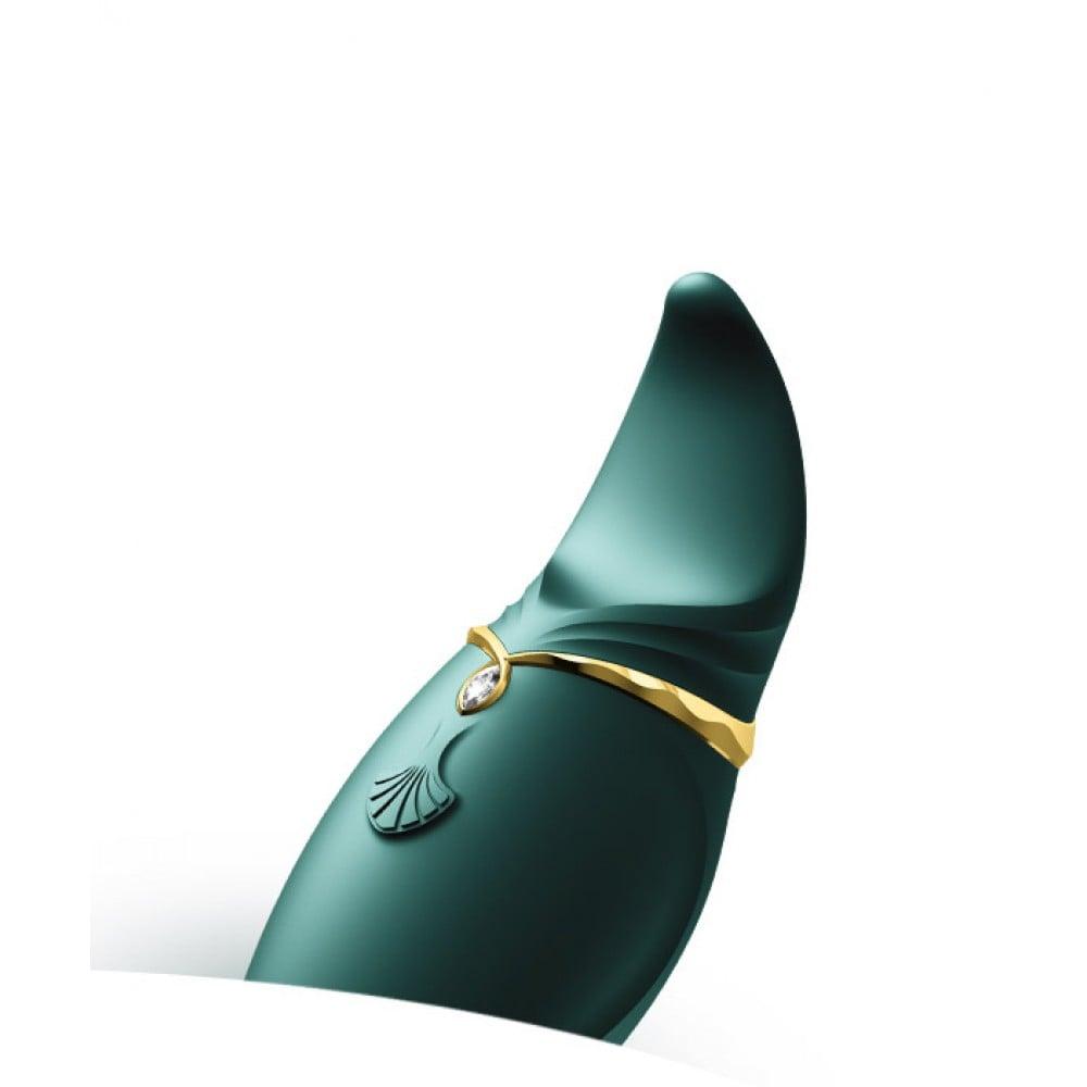 Стимулятор клитора с язычком и вибрацией Zalo Hero, зеленый (33570), фото 6