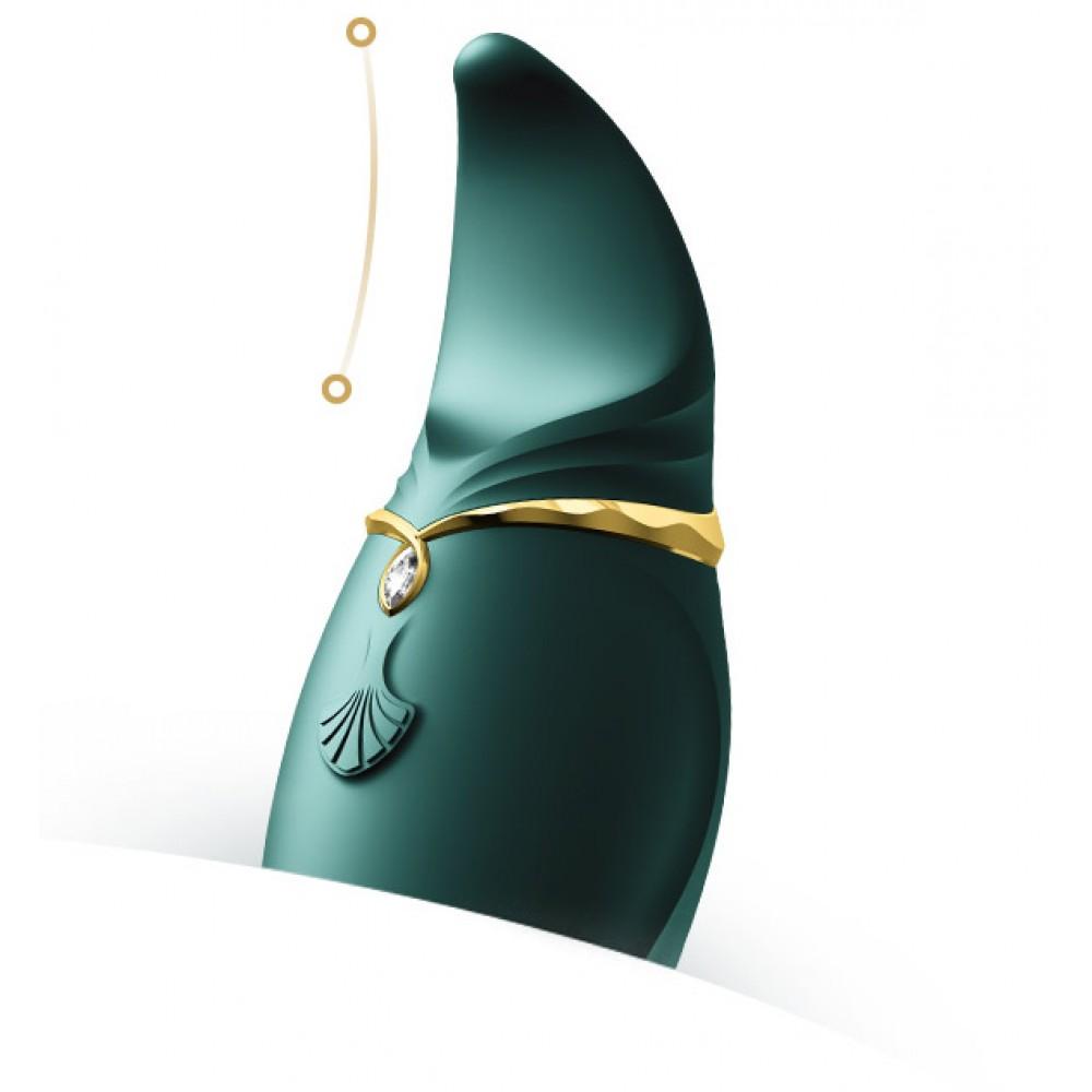 Стимулятор клитора с язычком и вибрацией Zalo Hero, зеленый (33570), фото 7
