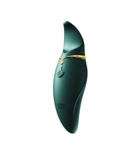 Стимулятор клитора с язычком и вибрацией Zalo Hero зеленого цвета - No Taboo