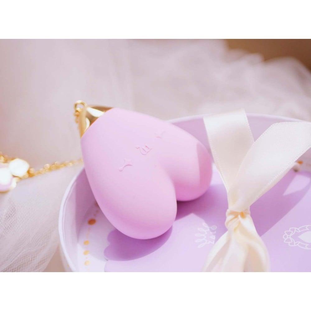 Вибратор для стимуляции клитора в форме сердца Strawberry Pink ZALO Baby Heart (24838), фото 7 — секс шоп Украина, NO TABOO