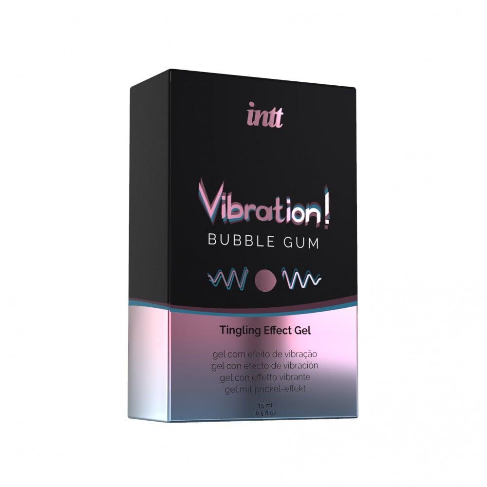 Жидкий вибратор для двоих со вкусом Bubble gum Intt, 15 мл (34965), фото 3 — секс шоп Украина, NO TABOO