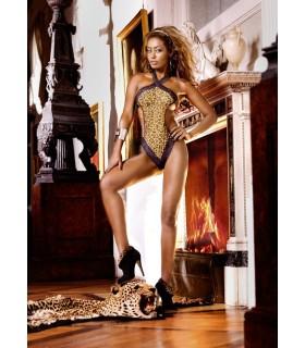 Эротическое боди леопардовый с открытыми боками S/M - No Taboo