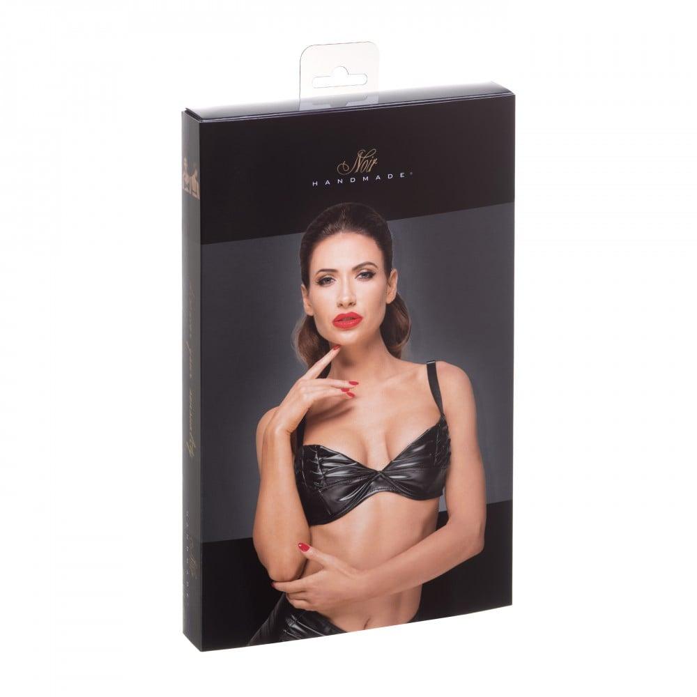 Сексуальный бюстгальтер с декоративными складками F174 Noir Handmade L (31946), фото 5 — секс шоп Украина, NO TABOO